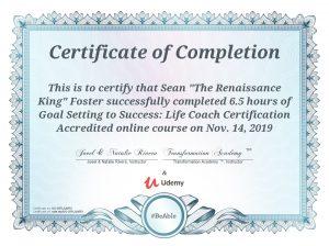 Successful Goal Achievment Cerftication